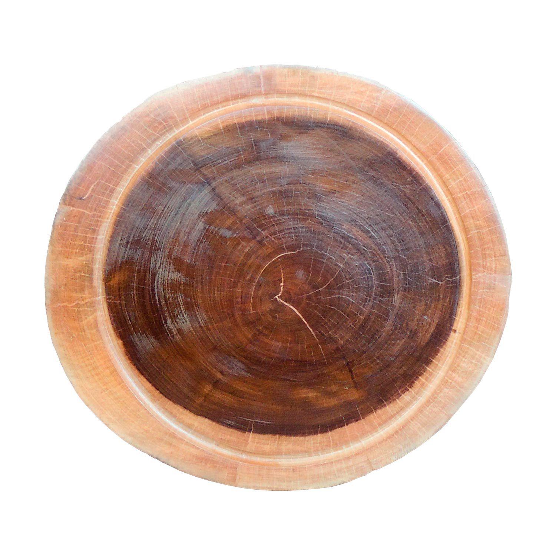 Bolacha de madeira maciça rústica lisa festa churrasco  39x40x5cm