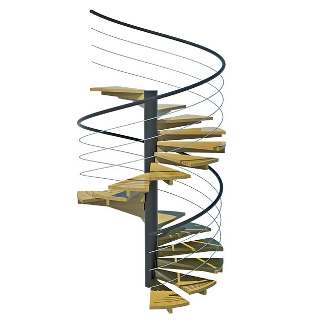 Escada De Madeira Caracol Em Garapeira Acesse Nossa Loja E Confira