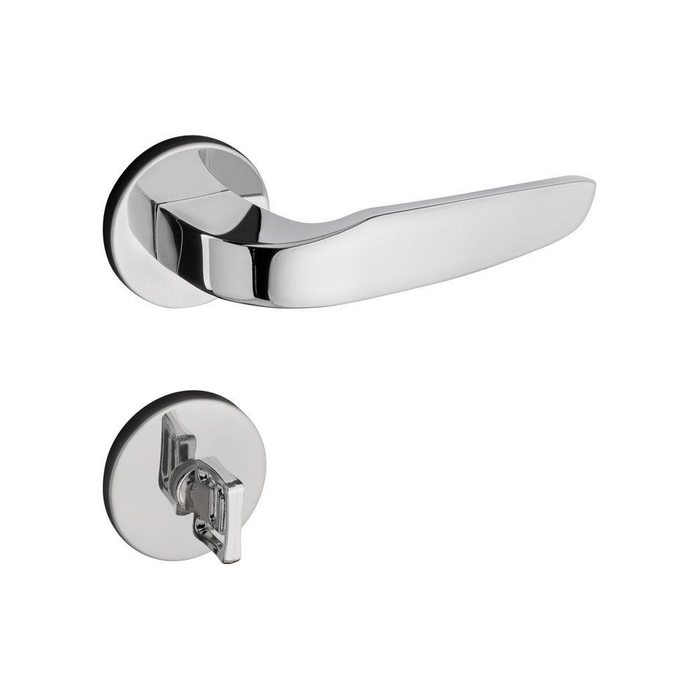 Fechadura Banheiro Pado Ibiza Roseta Quadrada Cromada 55mm