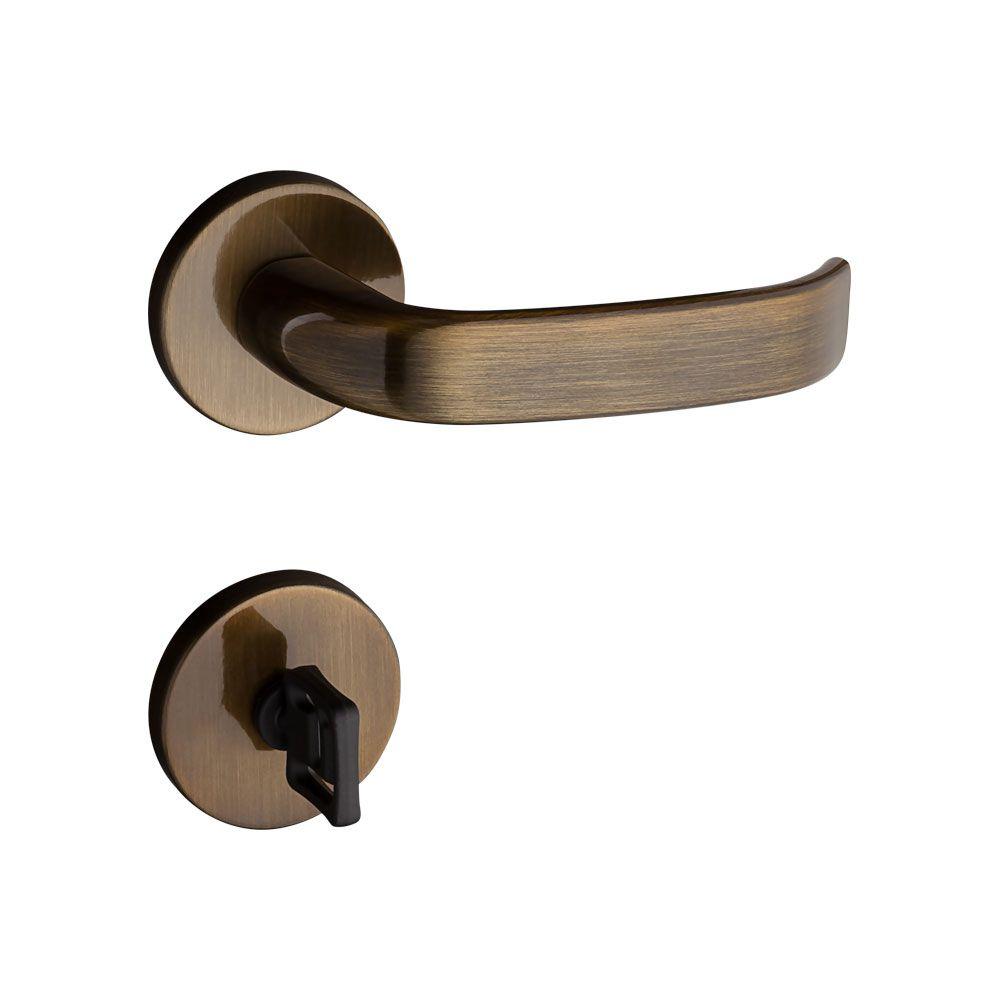 Fechadura Banheiro Pado Magnum Roseta Redonda bronze 40mm