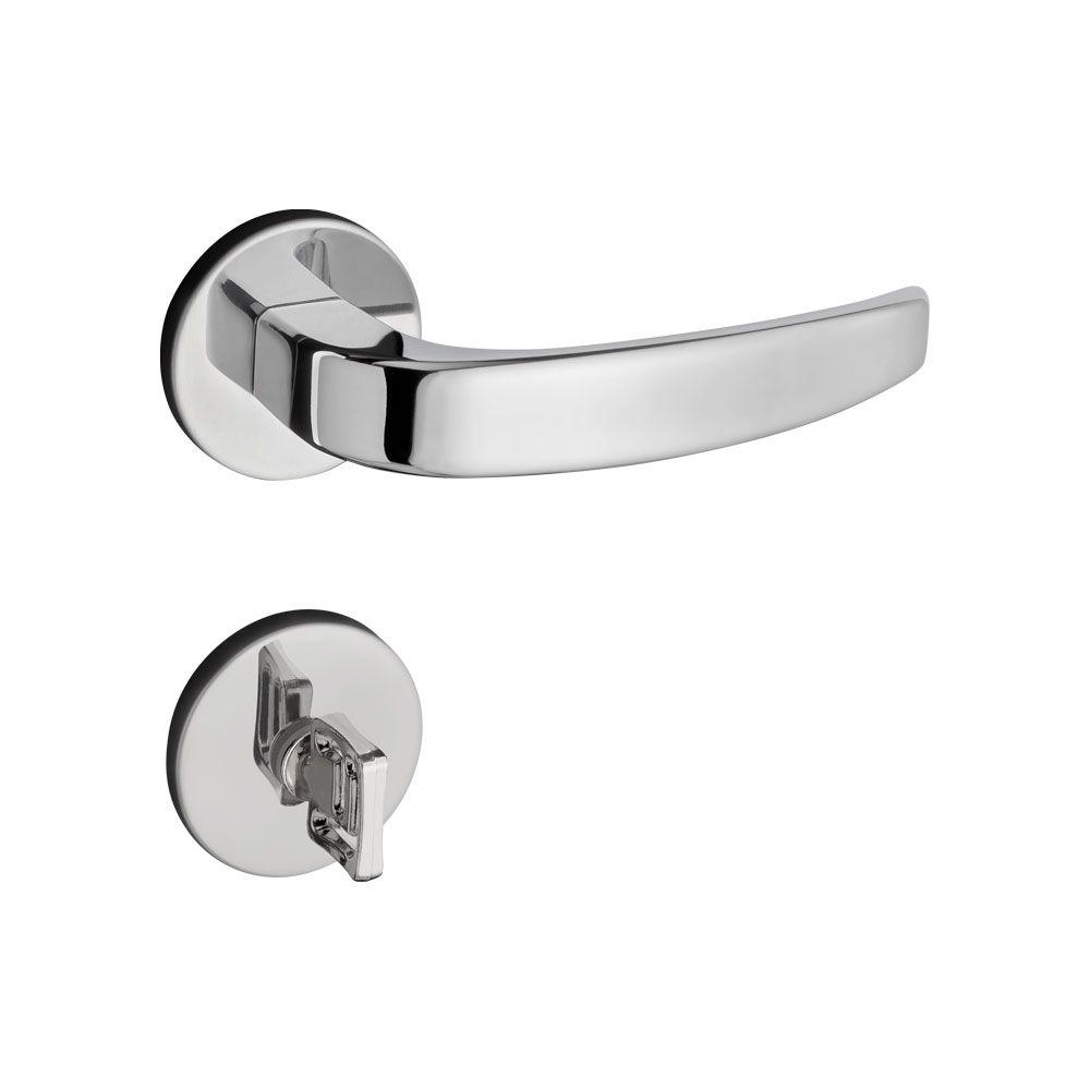 Fechadura Banheiro Pado Vic Roseta Redonda Cromada 40mm