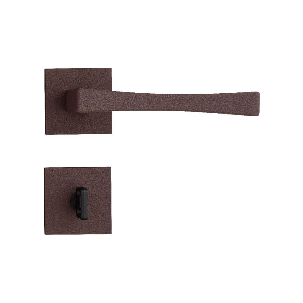Fechadura Banheiro Pado Vivaldi Roseta Quadrada Corten 55mm