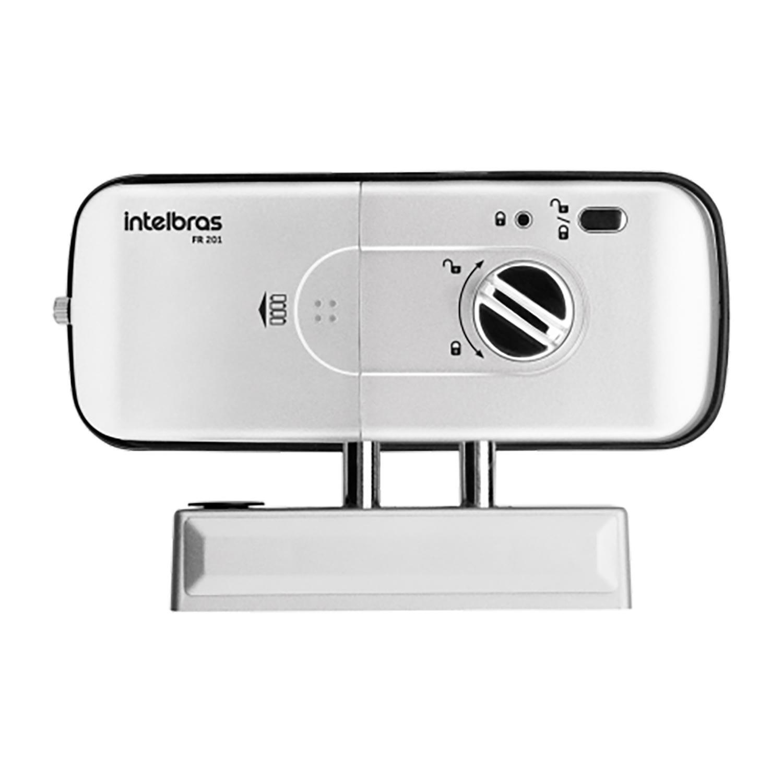 Fechadura digital de embutir Intelbras fr 201 com biometria e senha