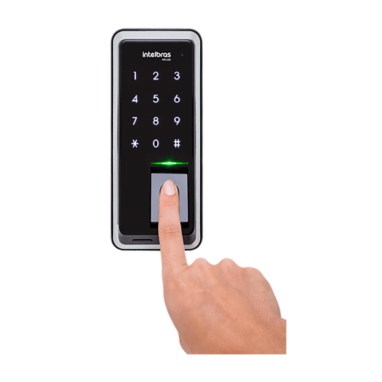 Fechadura digital de embutir Intelbras fr 220 com biometria e senha