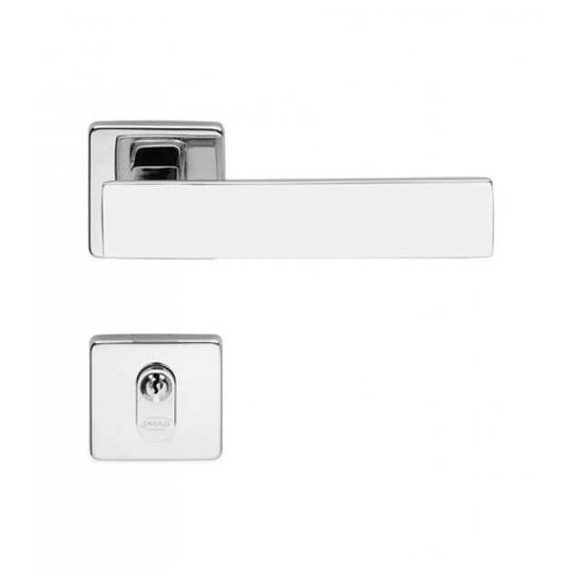 Fechadura Externa/Interna Imab Metro Light Roseta Quadrada Cromada 55mm