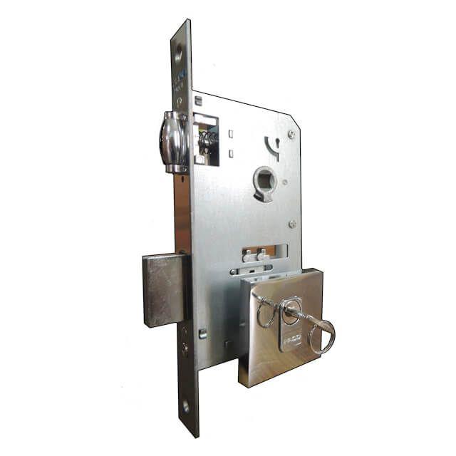 Fechadura Pado Rolete Para Porta Pivotante Com Cilindro de 9 cm