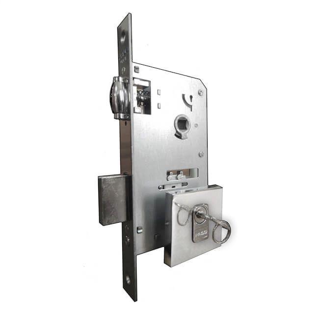 Fechadura Pado Rolete Para Porta Pivotante Com Cilindro de 7.4 cm
