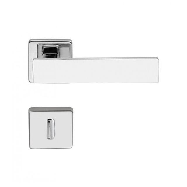 Fechadura Banheiro Imab Metro Light Roseta Quadrada Cromada 55mm
