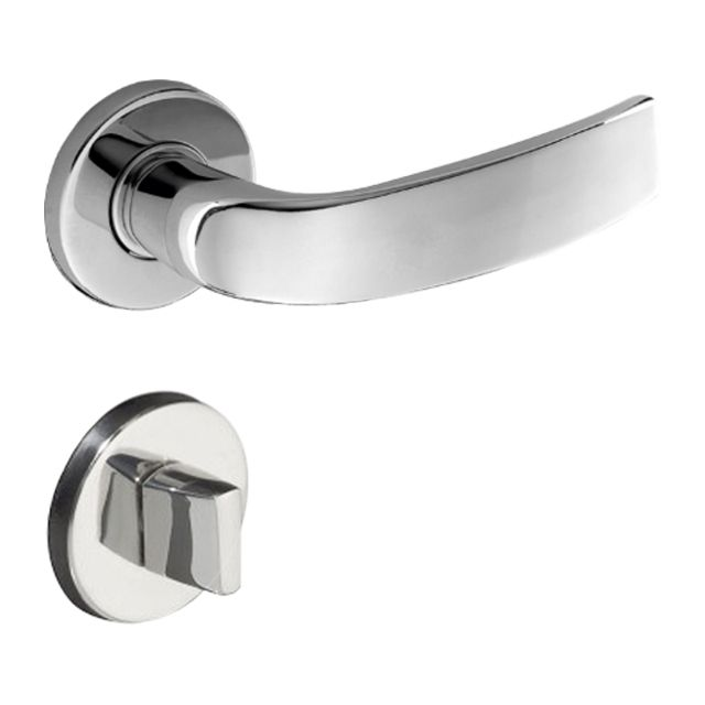 Fechadura Banheiro Pado Victoria Roseta Redonda Cromada 55mm