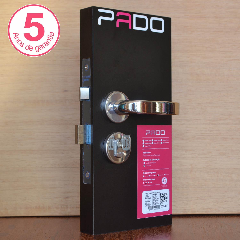 Kit fechaduras Pado Magnum: 01 banheiro 02 externa/interna cr