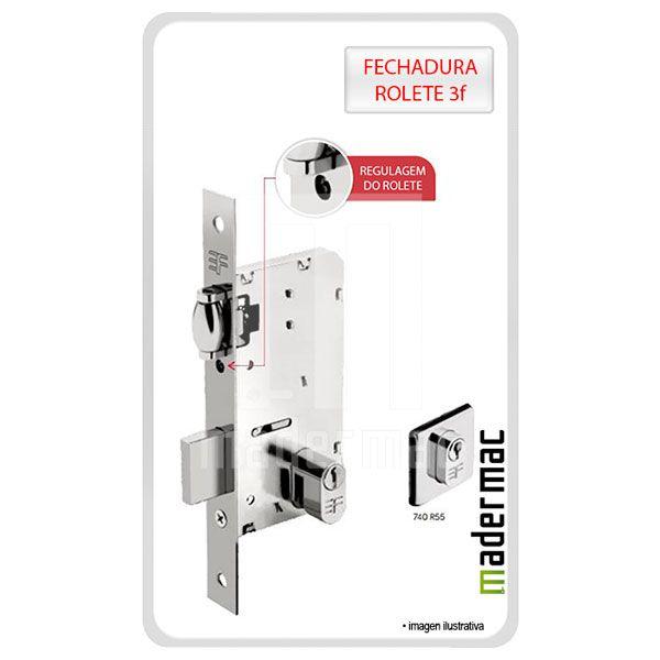 Kit Soft Porta Pivotante Fechadura 55mm + Pino Pivotante