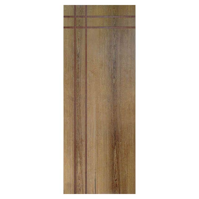 Porta de madeira laminada com friso decorativo PLF - 16 Goiabão