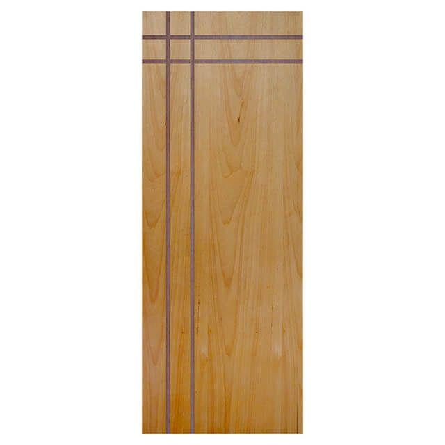 Porta de madeira laminada com friso decorativo PLF - 16 Tauari