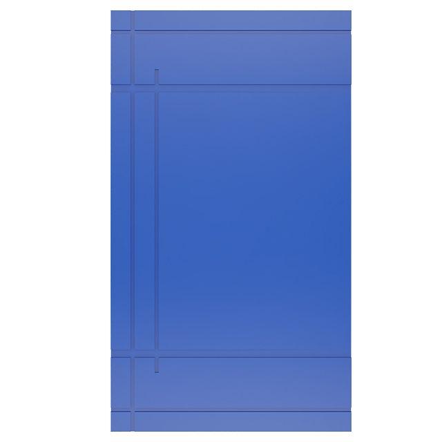 Porta Pivotante Laqueada Azul modelo pp-14