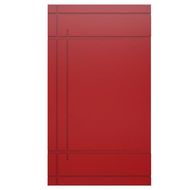 Porta Pivotante Laqueada Vermelha Modelo pp-14