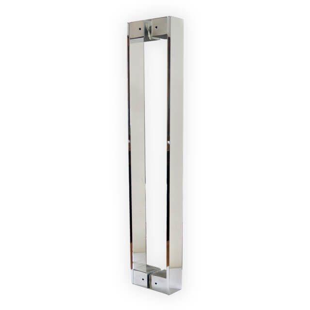 Puxador Vesfer 3059 Alumínio Polido Com Alça Dupla 60 cm