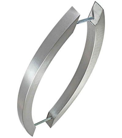 Puxador Vesfer 3057 Alumínio Polido Com Alça Dupla 80 cm