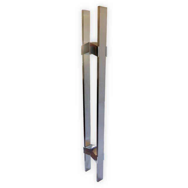 Puxador Vesfer 3011 Inox Escovado Com Alça Dupla 80 cm