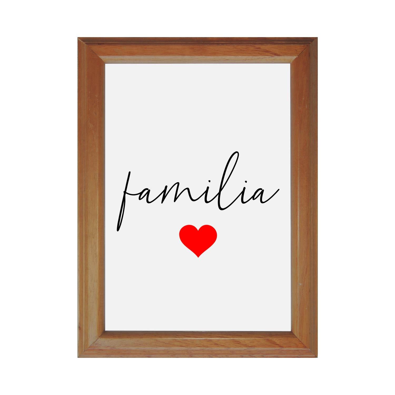 Quadro decorativo Família 20x29 cm