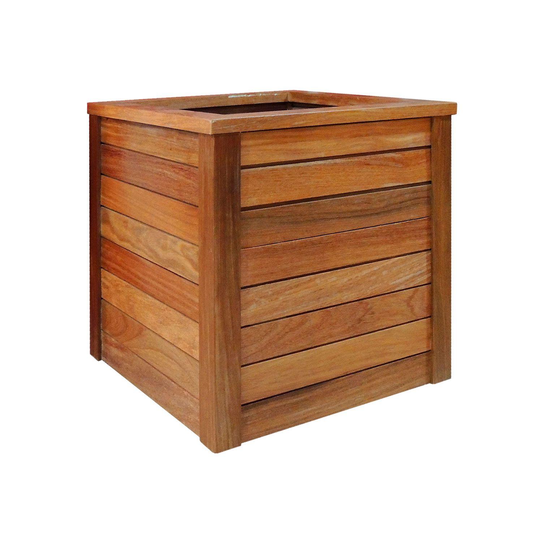 Vaso Cachepot em madeira maciça42x42x45cm