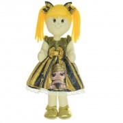 Boneca de Pano Helo com vestido no tema Lol Queen Bee abelhinha