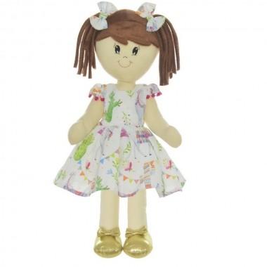 Boneca de Pano Mari com Roupa tema Lhamas