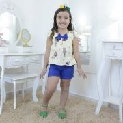 Conjunto infantil blusinha tema Lol Surprise - copa do mundo