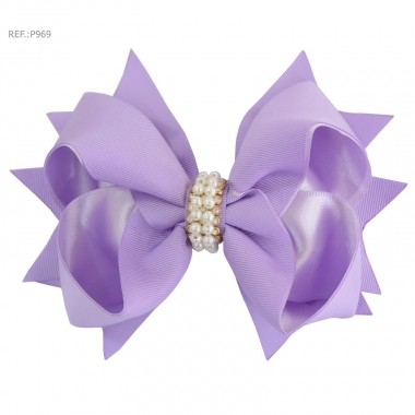 Laço para cabelo liso lilás
