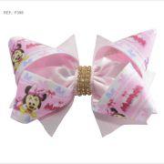 Laço temático da Minnie rosa bebê