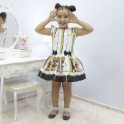 Kit Vestido Infantil e Boneca Pri tema Lol Queen Bee - Abelhinha