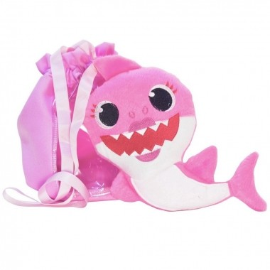 Pelúcia do Baby Shark Rosa bebê e Bolsa Rosa