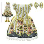 Roupa para Boneca de Pano tema Lol Queen Bee - Vestido