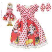 Roupa para Boneca de Pano tema Minnie e Mickey - Vestido