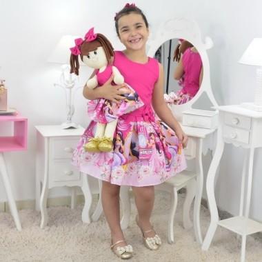 Tal Menina Tal Boneca Mari - Vestido Jasmine Rosa