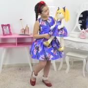 Tal Menina Tal Boneca - Vestido Capitão América e Boneca de Pano