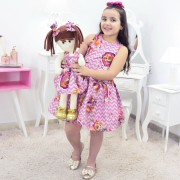 Tal Menina Tal Boneca - Vestido Skye da Patrulha e Boneca de Pano