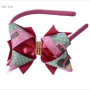 Tiara com laço temático da Lol Surprise rosa pink