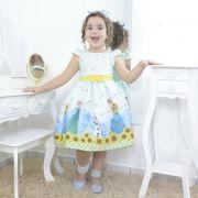 Vestido festa infantil da Elsa, Anna e Olaf - Frozen Fever