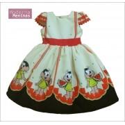 Vestido festa infantil da Magali - turma da Mônica – superluxo