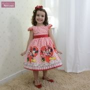 Vestido festa infantil da Minnie e Mickey