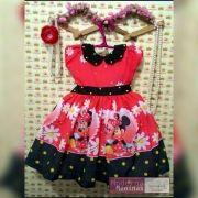 Vestido festa infantil da Minnie vermelha