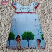 Vestido festa infantil da Moana Bebê – tubinho trapézio