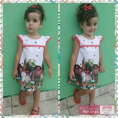 Vestido festa infantil da Moana – Tubinho