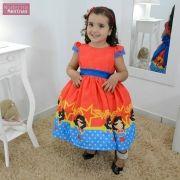 Vestido festa infantil da Mulher Maravilha