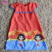 Vestido festa infantil da mulher maravilha – tubinho trapézio