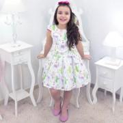 Vestido Infantil Com Lhamas