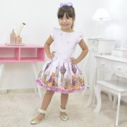 Vestido infantil da Rapunzel enrolados da Disney