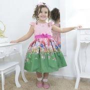 Vestido infantil tema as Smurfette dos os Smurfs - festa