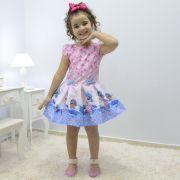 Vestido infantil tema Lol Sereia
