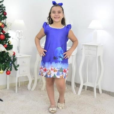 Vestido Noite de Natal - Trapézio Menina